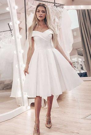 короткое свадебное платье с открытыми плечами, купить свадебное платье киев, купить короткое свадебное платье