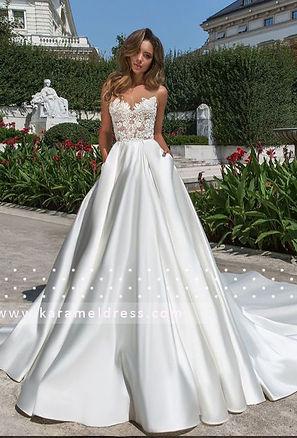 Свадебое платье атласное, свадебне платье со шлейфом, свадебное платье киев купить 2019