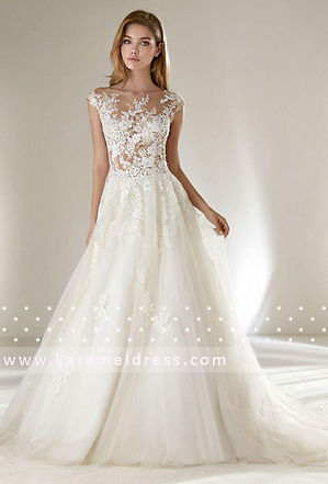 нежное свадебное плаье нюдового оттенка, нюдовое свадебное платье