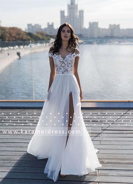 свадебное платье с разрезом, купить свадебное платье  Киев