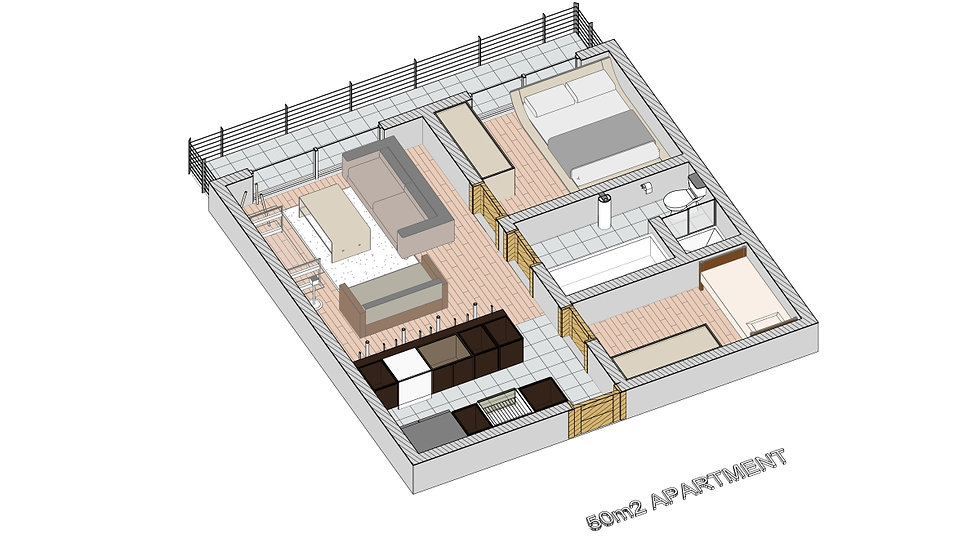 50m2 Apartment Template Library