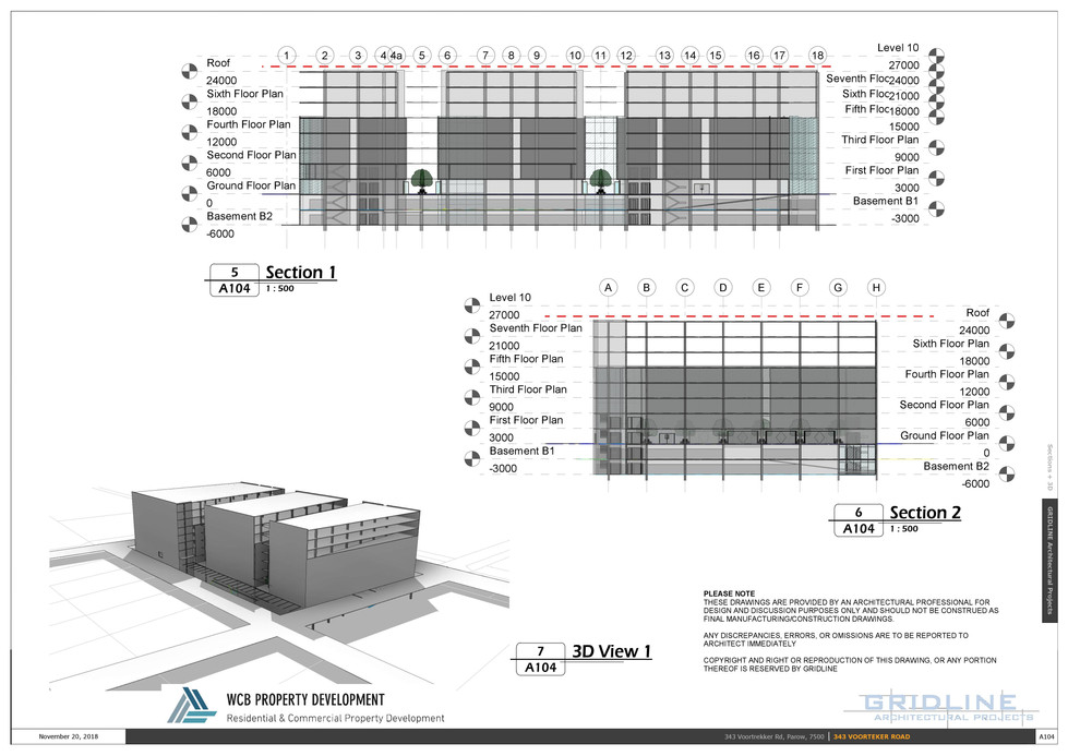 SECTIONS AND 3D