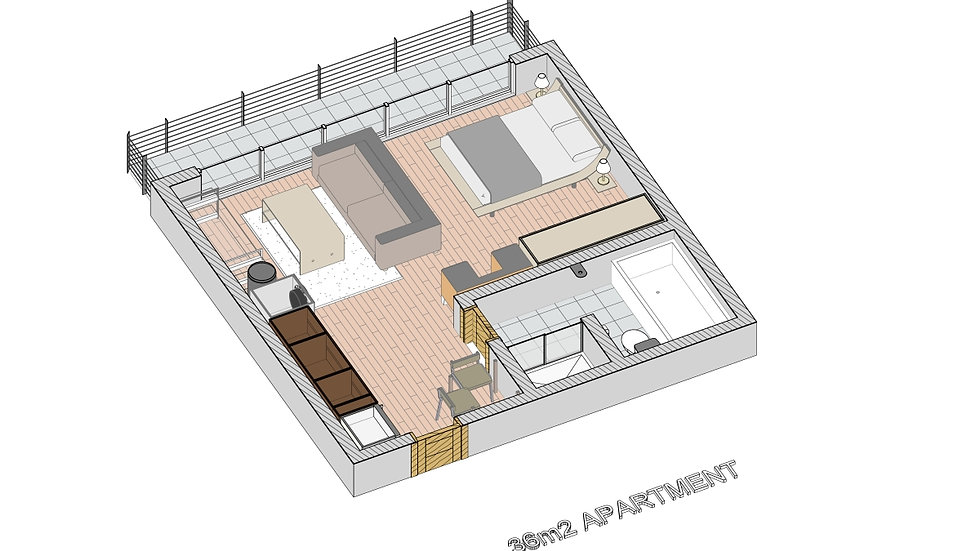36m2 Apartment Template Library