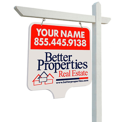Better Properties 24x24'' Plywood Personalized Yard Sign