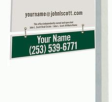 John L. Scott Corrugated Plastic Yard Sign Rider