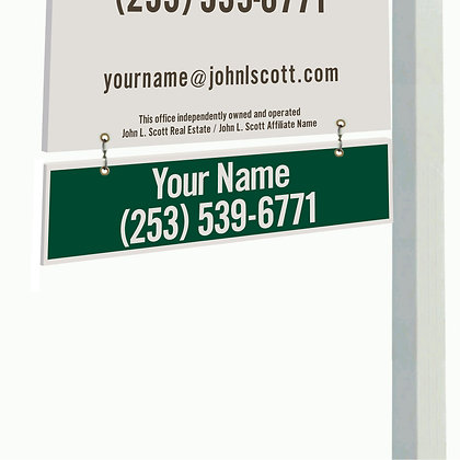 John L. Scott Corrugated Plastic Yard Sign Rider