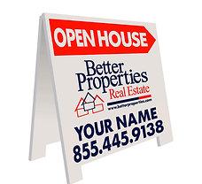 "Better Properties ""Open House"" A-Board"