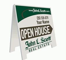 """John L. Scott Personalized """"Open House"""" A-Board"""