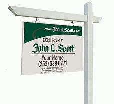 """John L. Scott 18""""x24"""" Yard Sign"""