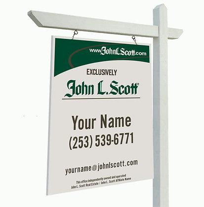 """John L. Scott 24""""x30"""" Yard Sign"""