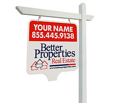 Better Properties 24x24'' Corrugated Plastic Yard Sign