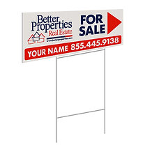 Better Properties Personalized Directional Sign