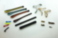 eyeglass end pices, metal trim, and temple tips