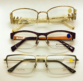 eyeglass rimless frame parts