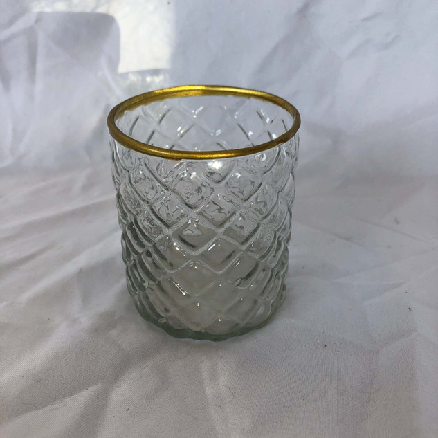 Glass Diamond Votive