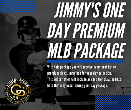 Jimmy's One Day Premium MLB Package