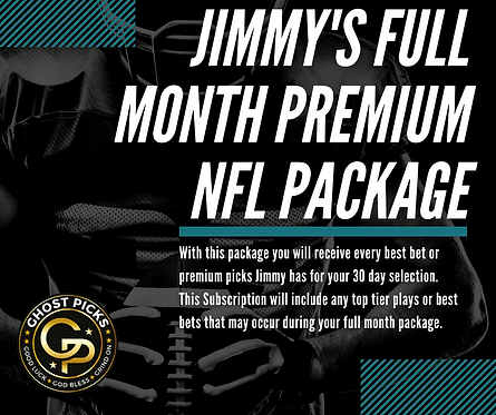 Jimmy's Full Month Premium NFL Package