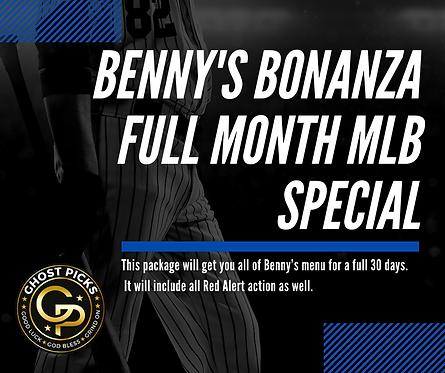 Benny's Bonanza FULL Month MLB Special