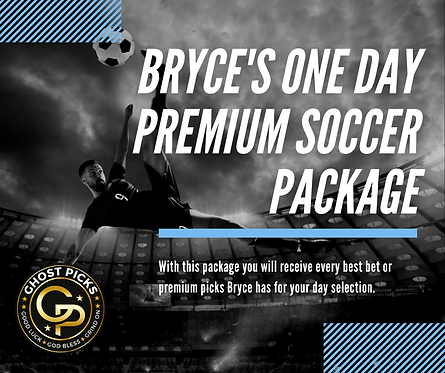 Bryce's One Day Premium SOCCER Package