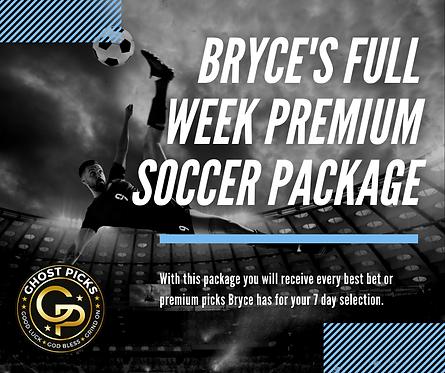 Bryce's Full Week Premium Soccer Package