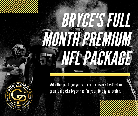 Bryce's Full Month EXPERT NFL Special