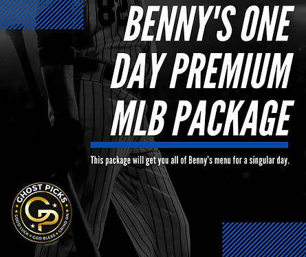 Benny's One Day Premium MLB Package