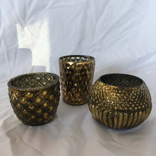Gold Brass Votive