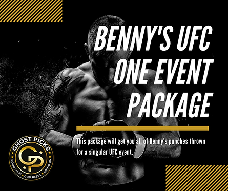 Benny's UFC One Event Package
