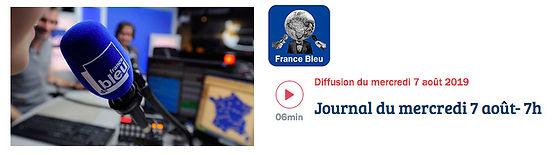 FRANCE BLEU PAYS D'AUVERGNE - 7 Aout 19