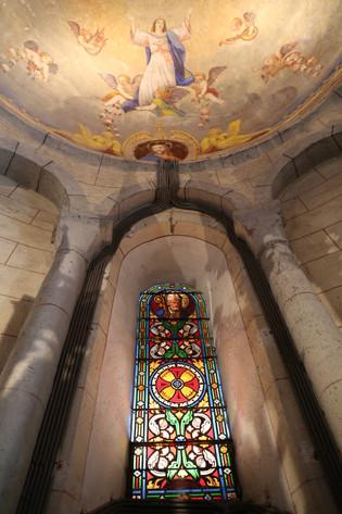 Peinture de la voûte du chœur représentant le Christ  - Église Sainte Anastasie