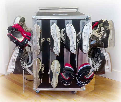 Portable team skate and glove dryer for hockey teams