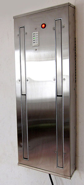 Space saving boot dryer stylish stainless steel for on the wall installation