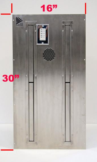 space savin boot dryer. installs inside wall