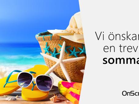 En riktigt härlig sommar önskar vi alla våra kunder!
