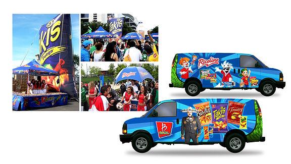 Event Planning, consumer promotions, massive events, sampling