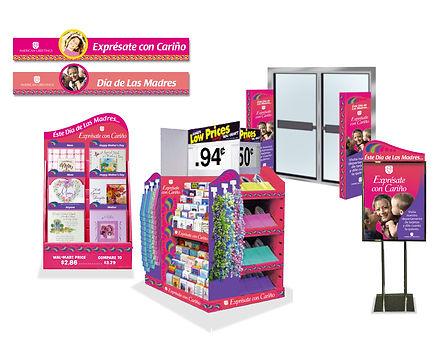 Hispanic merchandising, P.O.P, pallet display