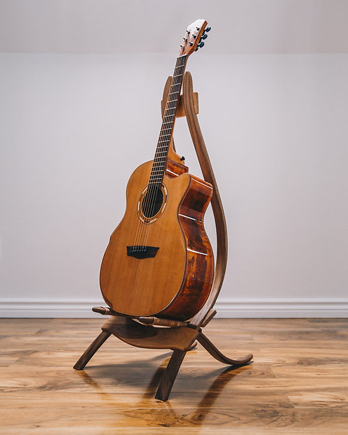 Walnut guitar stand
