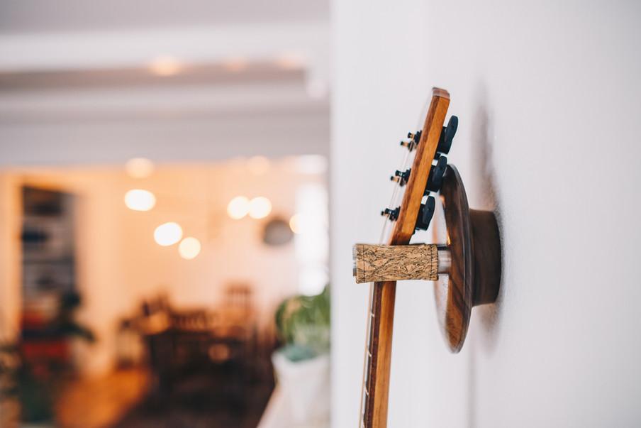 walnut guitar wall hanger