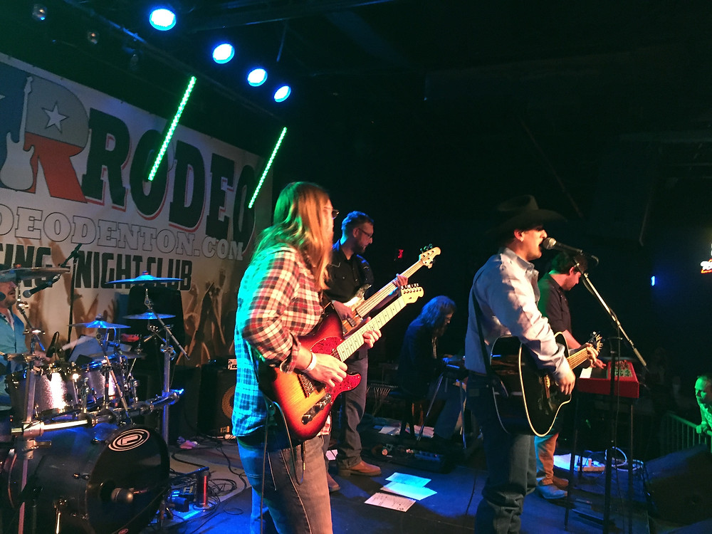 On stage with King George, at Rockin Rodeo, Denton, TX