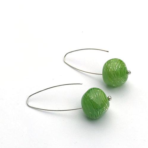 Abstract fülbevaló - zöld