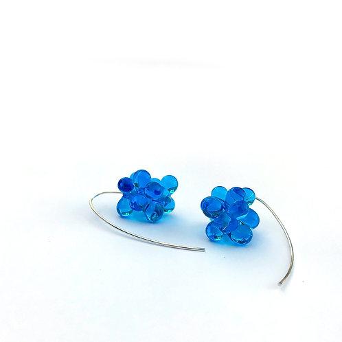 Zápor fülbevaló -sötét kék áttetsző
