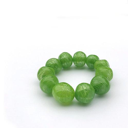Abstract karkötő - zöld I.