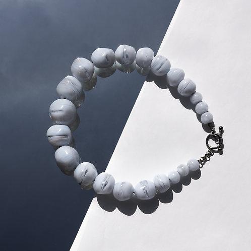 Abstract lánc - kékesfehér