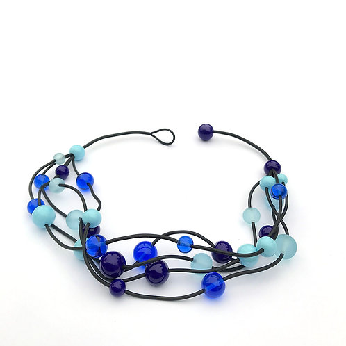 Isabella nyaklánc - jeges kék