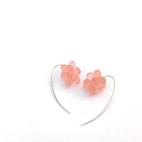 Zápor fülbevaló -jeges rózsaszín