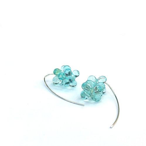Zápor fülbevaló -világos kék áttetsző