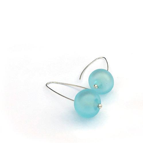 Buborék fülbevaló - jeges világos kék