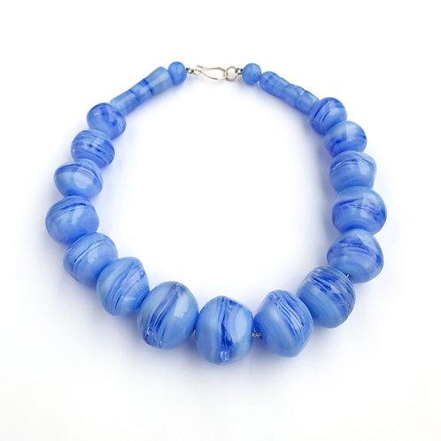 Abstract lánc - kék II.
