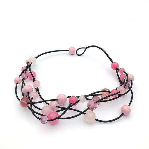 Isabella nyaklánc - rózsaszín