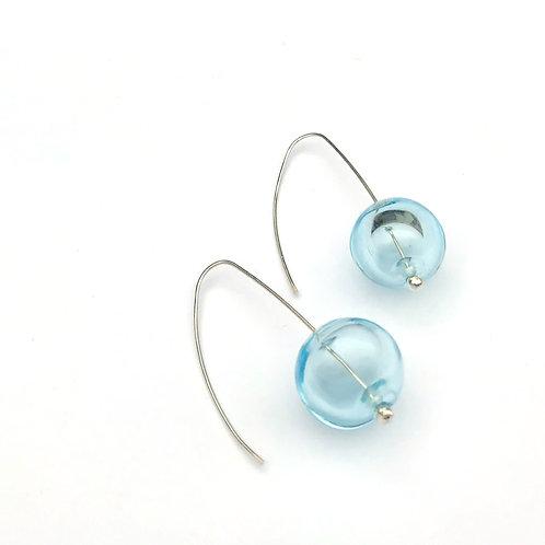 Buborék fülbevaló - világos kék áttetsző